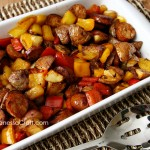 (recipe) sausage, potato & peppers healthy skillet