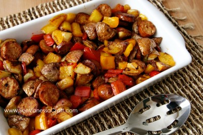 Sausage Potato Peppers Skillet Recipe