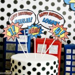 (party) sibling superhero birthday party