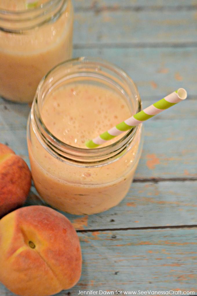 Peach and Cream Smoothie via www.seevanessacraft.com