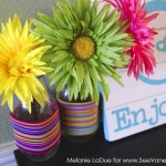(craft tutorial) colorful hair tie vase