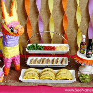 Party: taco bar fiesta with el yucateco hot sauce