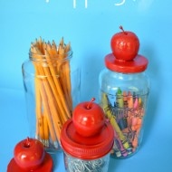 (craft tutorial) back to school apple jars