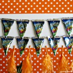 (craft tutorial) diy capri sun bunting flags & crate stand