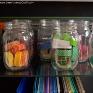 (craft spaces) organizing a small craft cabinet