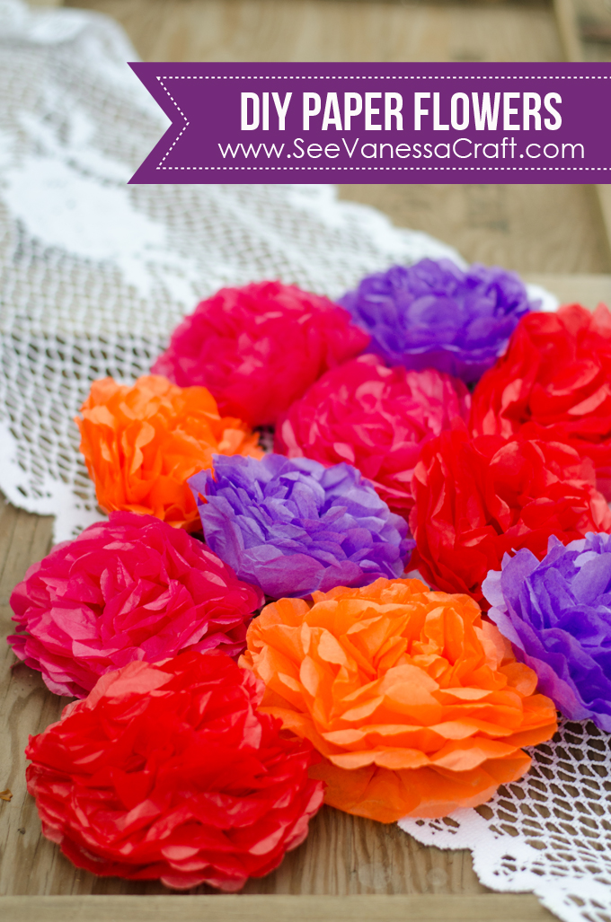 Party day of the dead flower headbands see vanessa craft tissue paper flower tutorial mightylinksfo