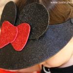(craft tutorial) disney minnie mouse visor hat
