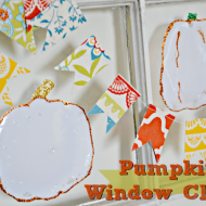 (30 crafty days of halloween) pumpkin window clings