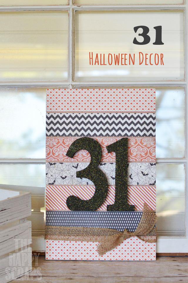 DIY Halloween Sign Decor - www.seevanessacraft.com