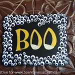 (30 crafty days of halloween) diy googly eye halloween decor