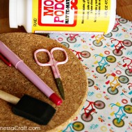 (craft tutorial) diy fabric mouse pad