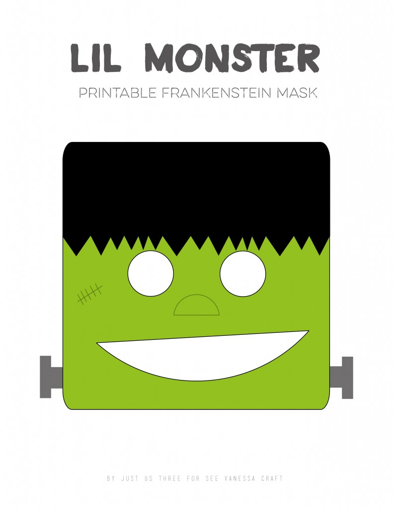 30 crafty days of halloween) printable cat and frankenstein mask ...