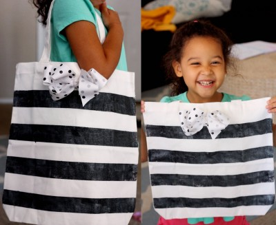 DIY Glitter Tote by Andrea Worley for www.SeeVanessaCraft.com