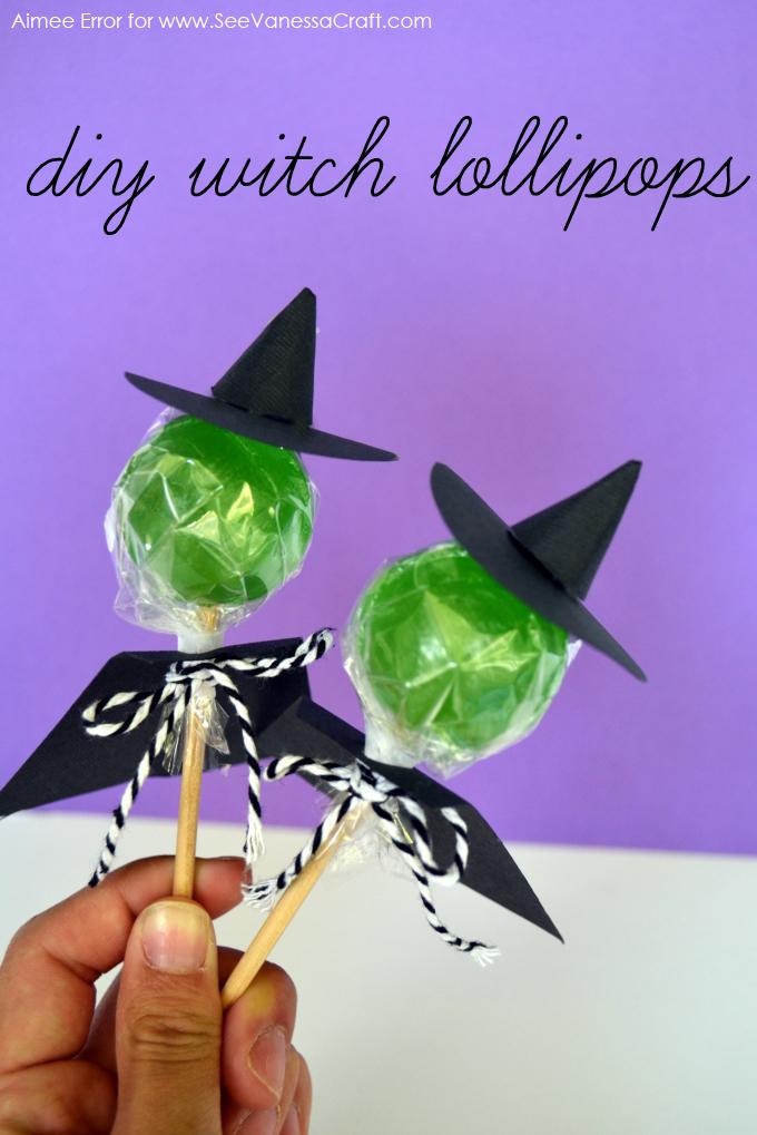 30 Crafty Days Of Halloween Witch Lollipop Craft See Vanessa Craft