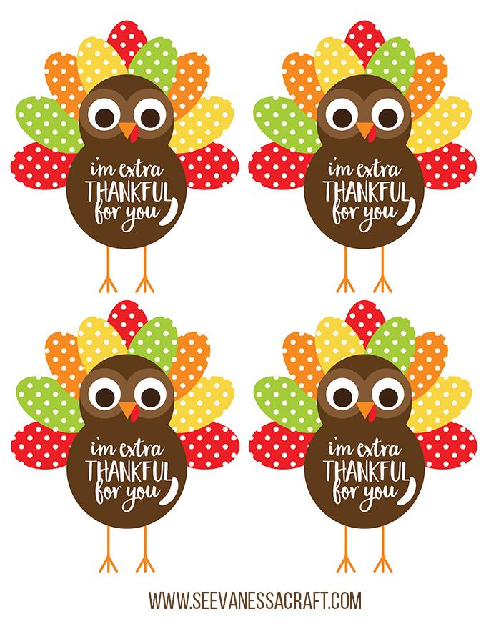 Extra Thankful Turkey Printable Version 2