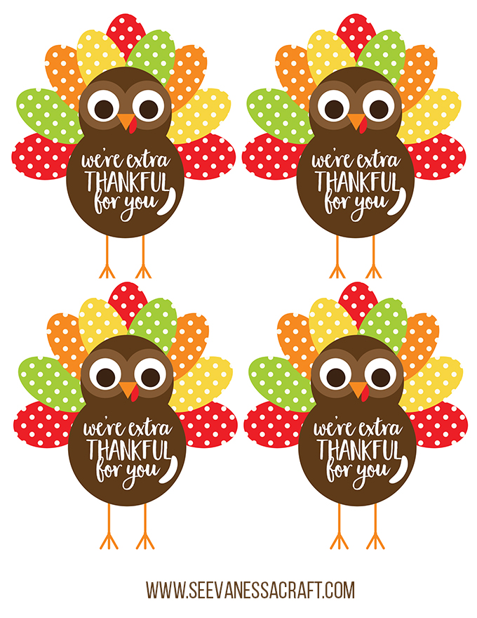 Extra Thankful Turkey Printable