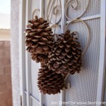 (craft tutorial) pine cone door decor