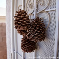 (craft tutorial) pine cone door decor
