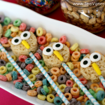 (edible craft) rice krispies owl treats