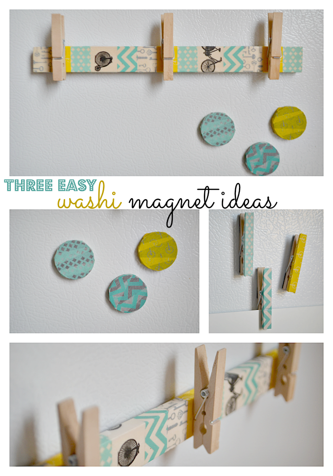Craft 3 easy washi tape magnet ideas see vanessa craft for Small magnets for crafts