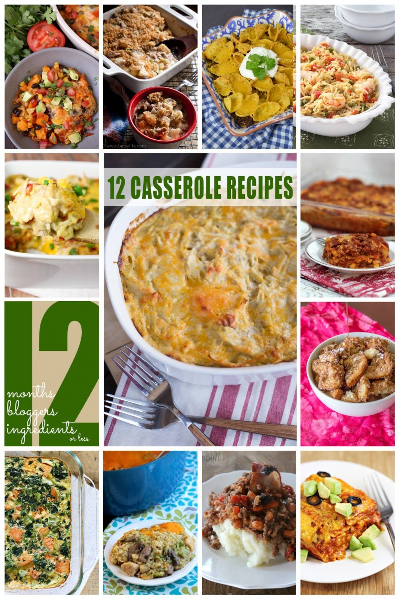 12 Casserole Recipes