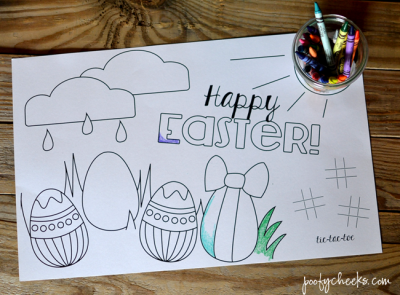 Easter Coloring Page Placemat