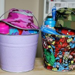 Craft: Fabric Covered Easter Buckets