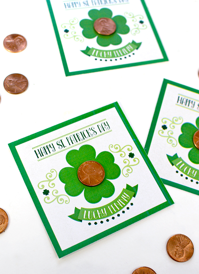 Free St. Patrick's Day Lucky Penny Printable