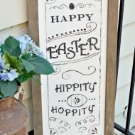 DIY: Pottery Barn Inspired Easter Sign