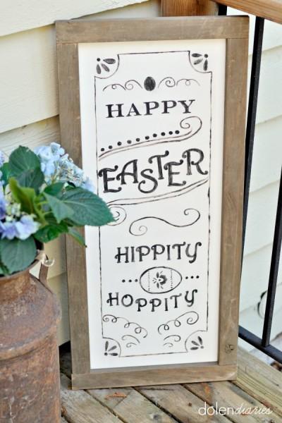 Pottery Barn Inspired Easter Sign