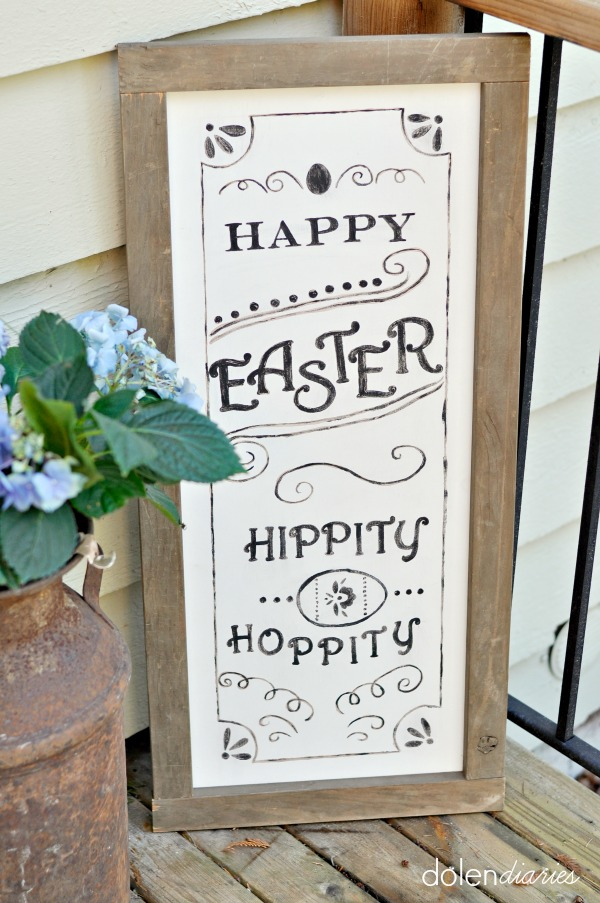 Pottery Barn Inspired Easter Sign