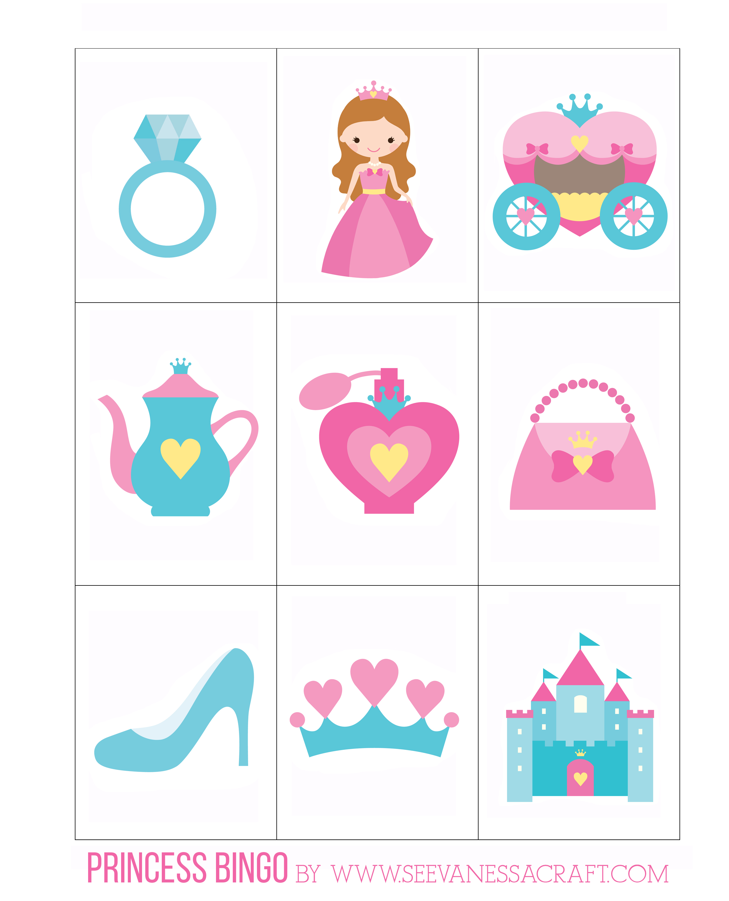 photo about Printable Princess named Printable: Princess Bingo with Goldfish® - Look at Vanessa Craft