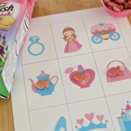 Princess Bingo Cards with Goldfish