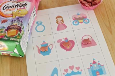 Princess Bingo Cards with Goldfish