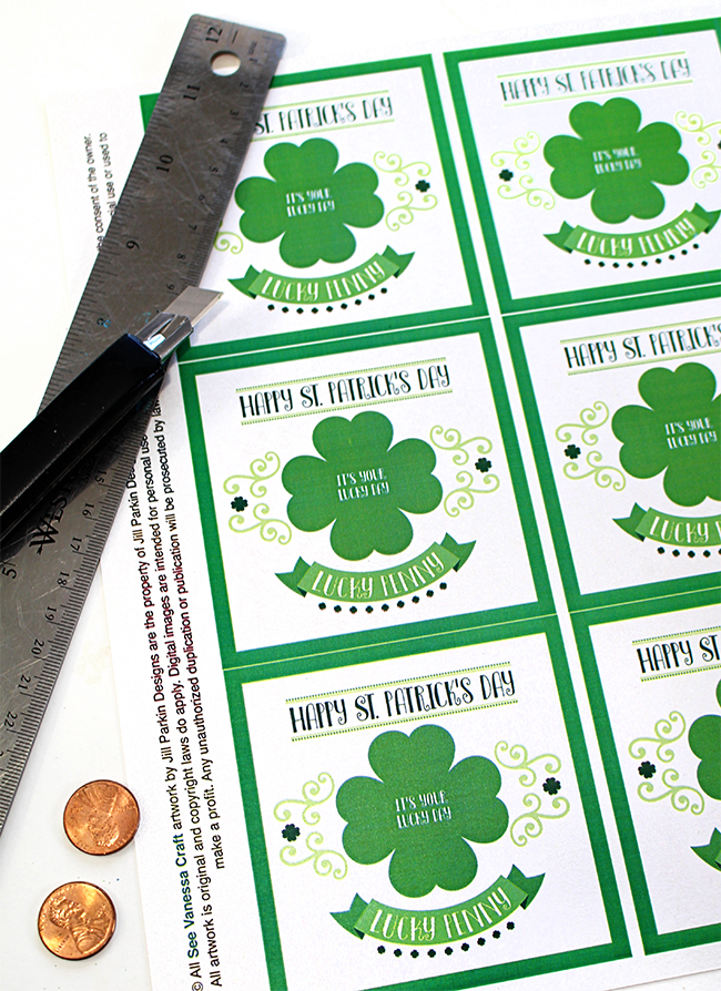 St. Patrick's Day Lucky Penny Printable