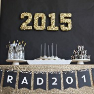 Gold Sequin Graduation Party