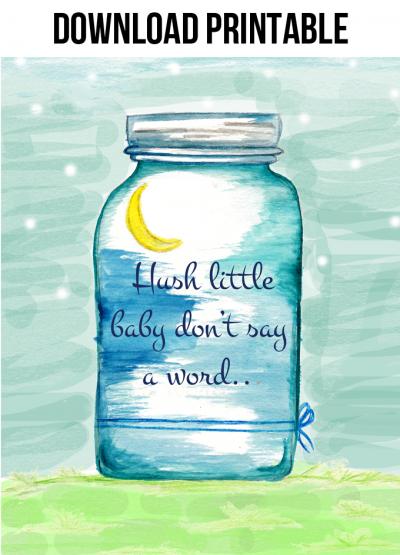 Hush Little Baby Printable