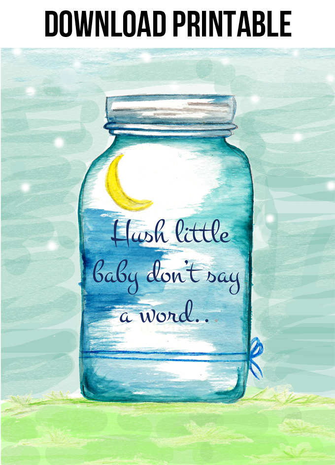 Hush Little Baby Printable