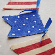 Craft: 4th of July Painted Burlap Banner