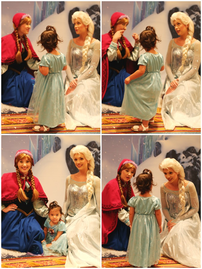 Elsa and Anna in Disney World
