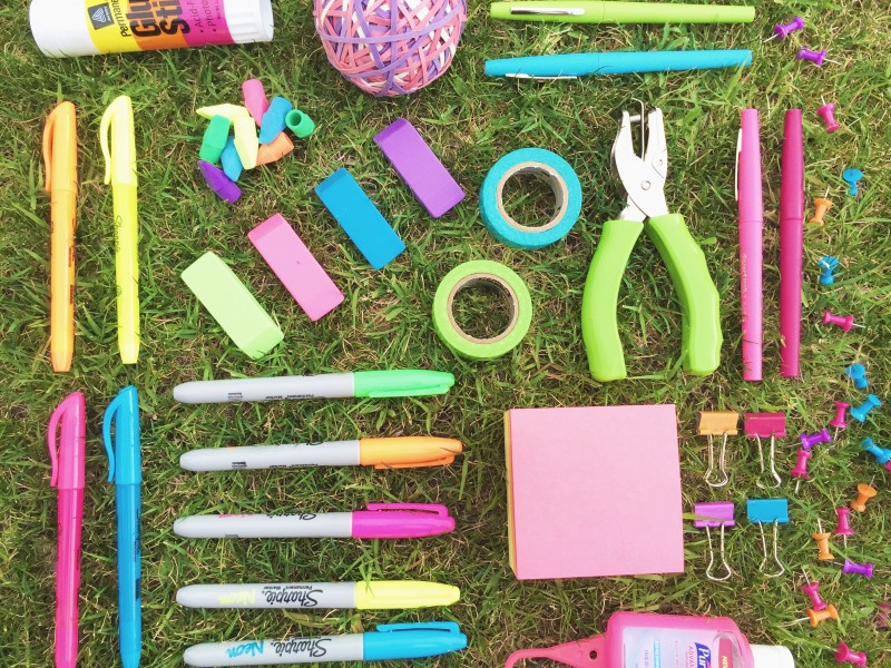 Office Depot Neon Office Supplies #GearLove