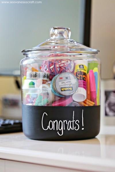 New Job Gift Chalkboard Jar