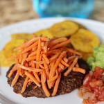 Recipe: Bunless Burger with Fried Carrots