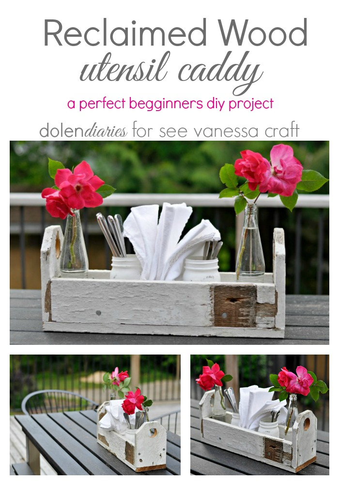 Reclaimed Wood Utensil Caddy Collage