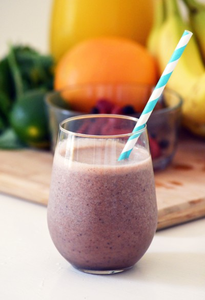 Citrus and Berry Green Smoothie Recipe