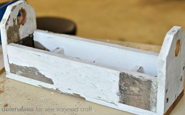 farmhouse table trough caddie