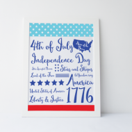 Printable: Fourth of July Print