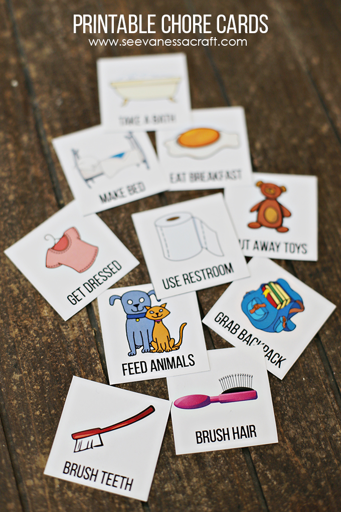 Free Printable Chore Cards for Kids