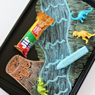Dinosaur Chalkboard Activity Tray for Road Trips
