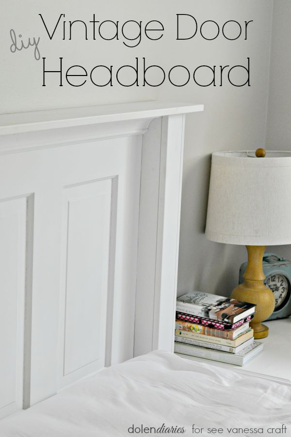 Add a bit of farmhouse flair to your bedroom with a diy vintage door headboard